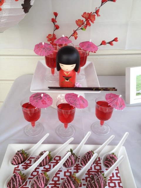 todi: {Customer Parties} Kokeshi Doll Japanese theme Birthday Party