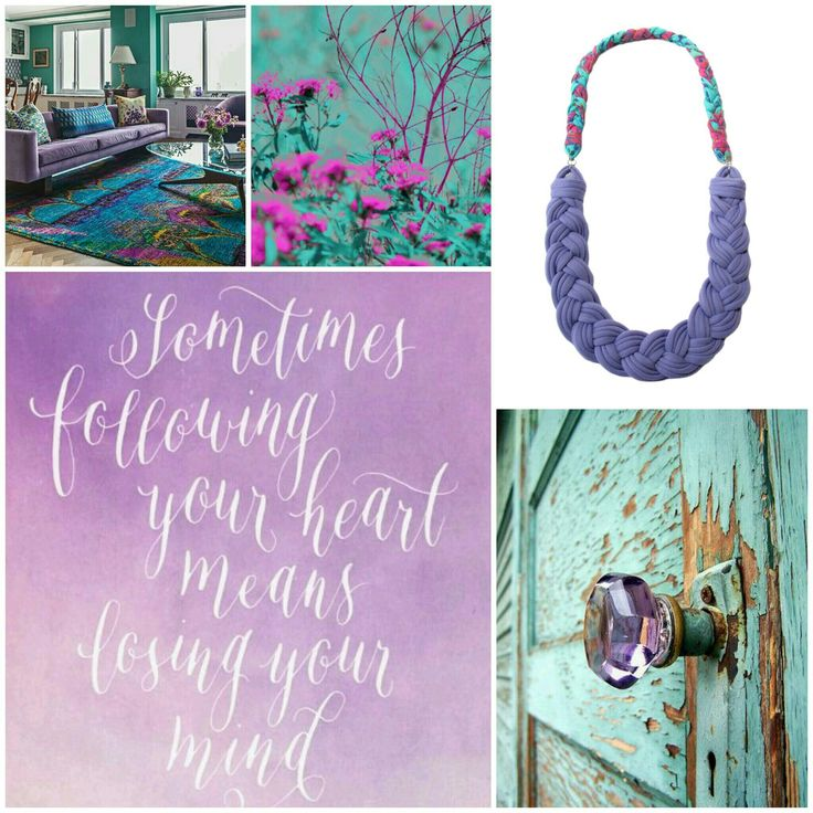 Sometimes following your heart means losing your mind...#followyourheart  #followyourdreams http://etsy.me/2bs9Dpb #inspiredbycolor #recycleyourtshirt #handmade #necklace #moodboard