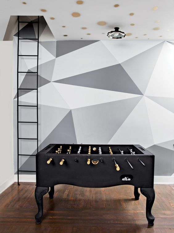 25 Dazzling Geometric Walls for the Modern Home - http://freshome.com/25-dazzling-geometric-walls/