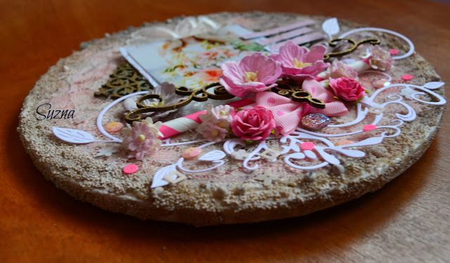 Hi everyone!!!!   I hope you are all well!! Today I am sharing a beautiful Altered embroidery hoop, using my favorite girly colors, Dusty...