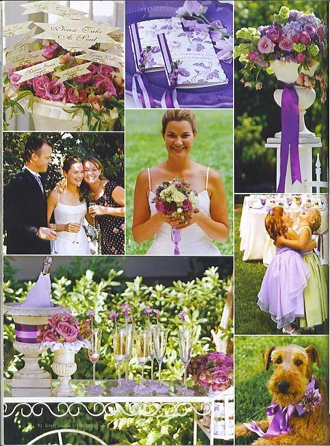 Purple Backyard Wedding : Wedding ideas purple, Backyard weddings and Green weddings on