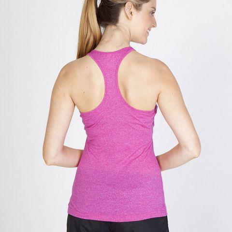 FINCH | ladies racerback heather singlet. Athletic ladies racer back singlet in distressed heather. 130 gsm 50% cotton, 50% polyester. Size 6-22. Plus sizes.