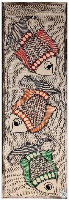 Three Beautiful Fish - design for my handmade greetingcards..