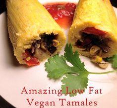 Delicious Low Fat Vegan Tamales recipe - Peaceful Dumpling