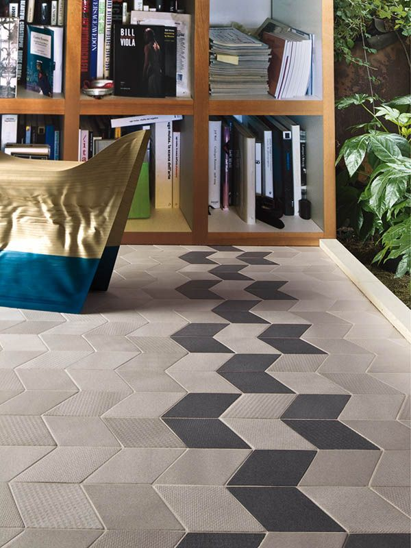 love the installation of this floor tile! By Mutina - Tex