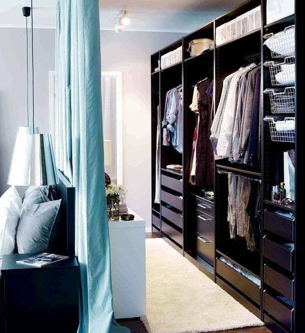 dressing fermé avec un rideau