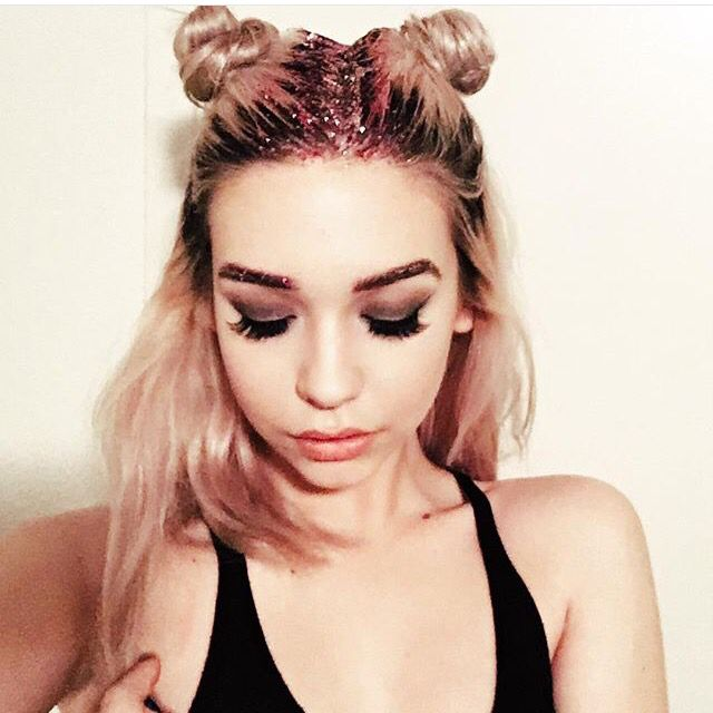 Space buns and glitter