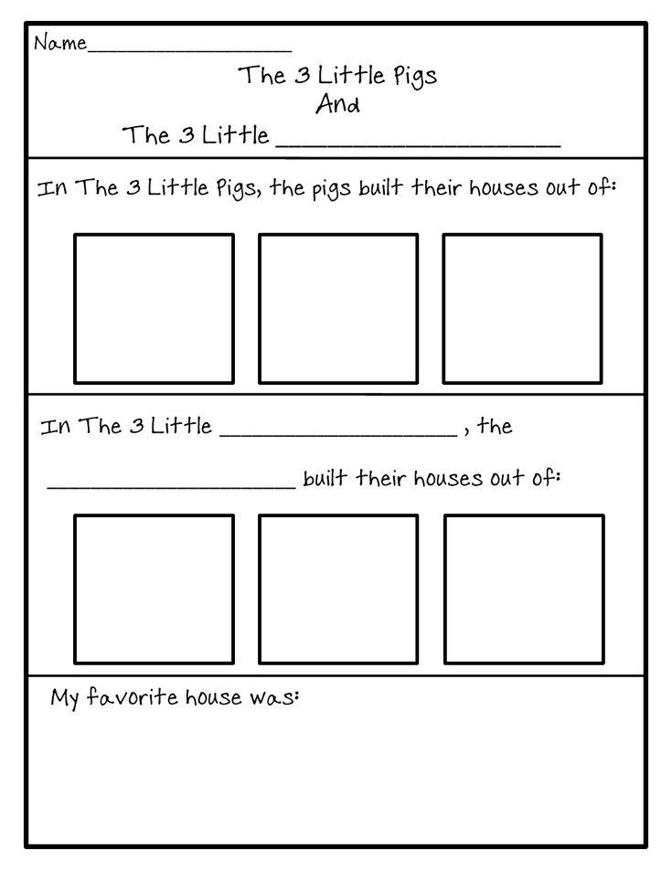 3 little pigs comparison worksheet teaching ideas fairyland pinterest pigs worksheets. Black Bedroom Furniture Sets. Home Design Ideas