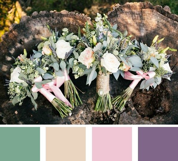 July is All About Color month here at mywedding and we love this pretty summer wedding color palette.