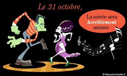 Invitation à une soirée d'Halloween