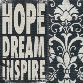 Hope Dream Inspire wall hanging. $64.00