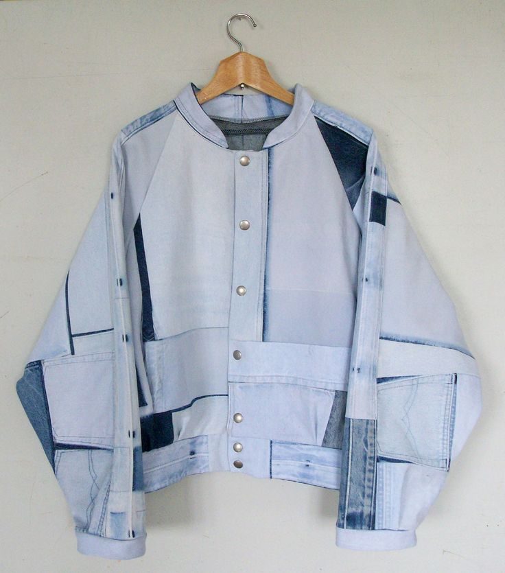 Artic Bomber Jacket denim Fade Out label