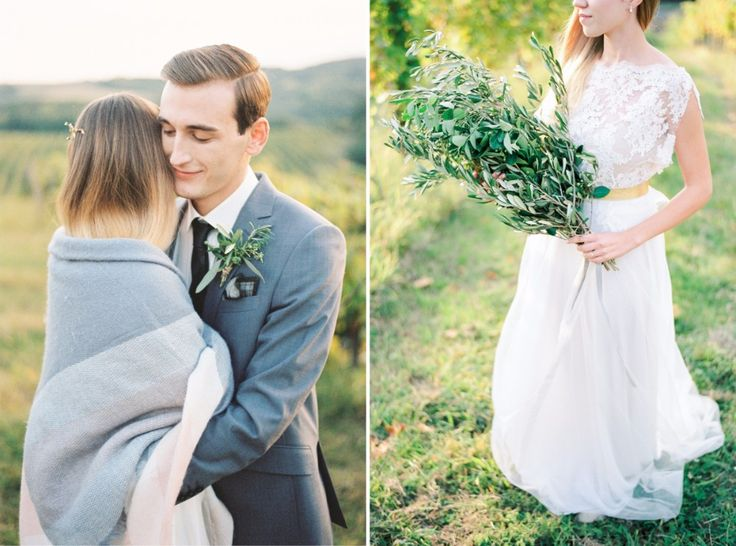 Bride and groom and their italian styled wedding