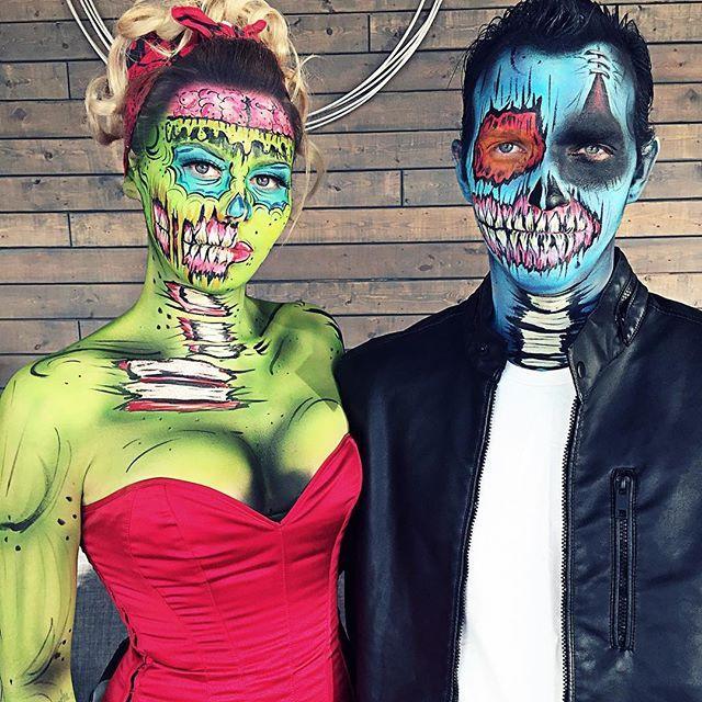 popart zombie couple!