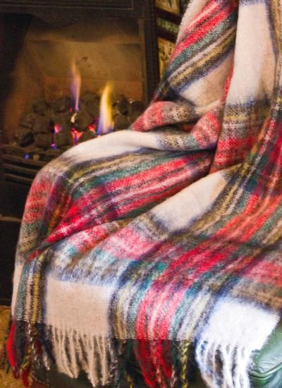 Blarney Tartan Mohair Throw - Dress Stewart