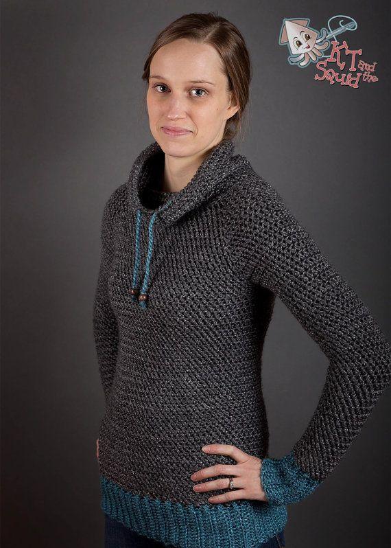 Crochet Sweater pattern Women plus size top down door ktandthesquid
