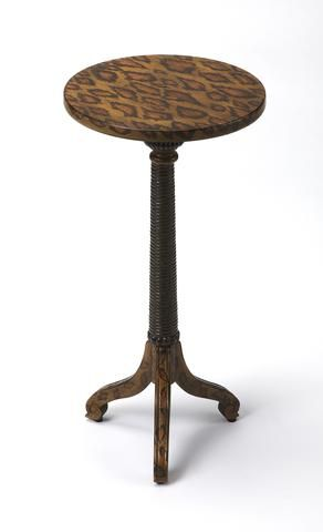 Florence Leopard Spots Painted Pedestal Table by Butler Specialty Company 1583182