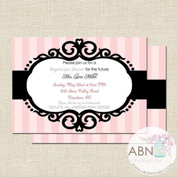 Bridal Shower Invitation Bachelorette Party Invite