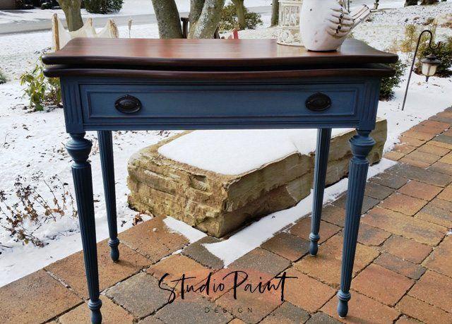 "Painted Games Table ""Lesley"" - Studio Paint Design"