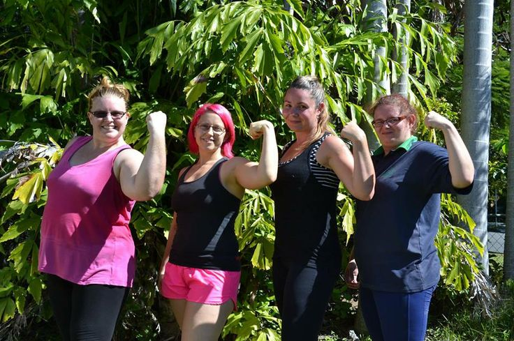 Some of the girls I train after a weights session.
