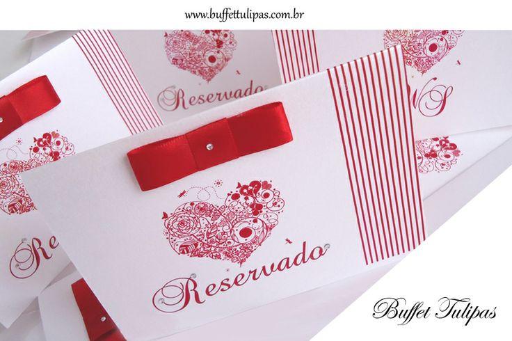 Convites de casamento, tradicionais ou inovadores os convites são a primeira impressão do casamento, veja algumas dicas de como fazer os seus convites de casamento, saiba como caprichar, inovar e surpreender:  www.buffettulipas.com.br