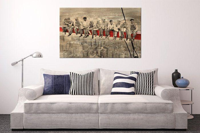 Stampa su legno per un quadro senza cornice con effetto naturale.