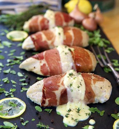 Haylie Duff - Prosciutto wrapped chicken stuffed with goat cheese
