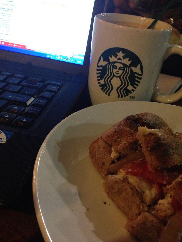 Hot Chocolate & Tuna Sandwich