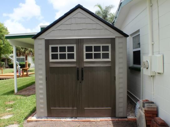Rubbermaid Big Max 7 ft. x 7 ft. Storage Shed 1887154 at The Home Depot - Mobile