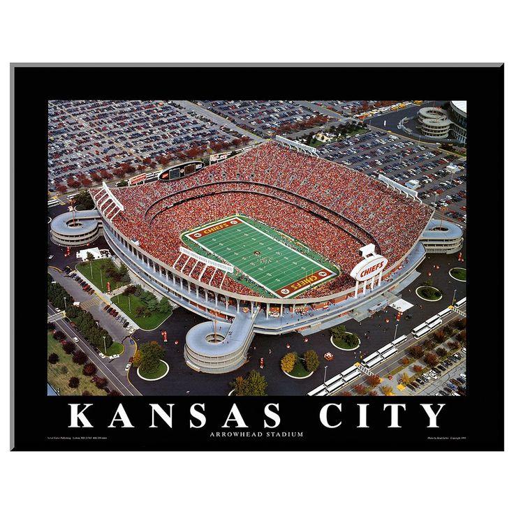 Art.com Kansas City Chiefs Arrowhead Stadium Wall Art, Multicolor