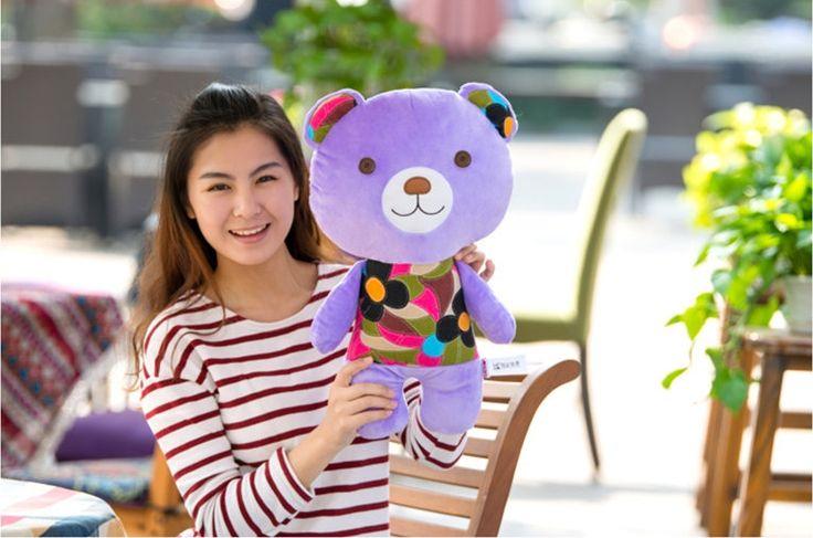 new cute plush purple teddy bear toy cute flower clothes teddy bear doll gift about 50cm //Price: $US $22.67 & FREE Shipping //     #toyz24