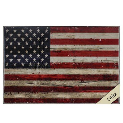 Propac Images USA Flag Framed Graphic Art