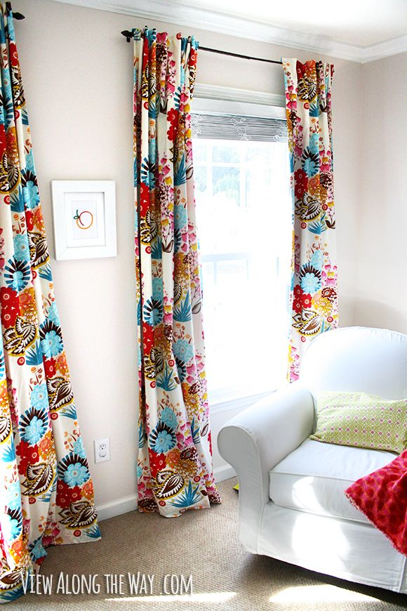 Something bright and colorful for living room curtains