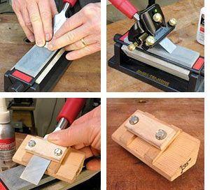 Sharpening Chisel and sharpening jig