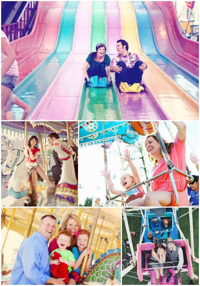 Laughing all the way! Christmas cards with a carnival photo shoot!