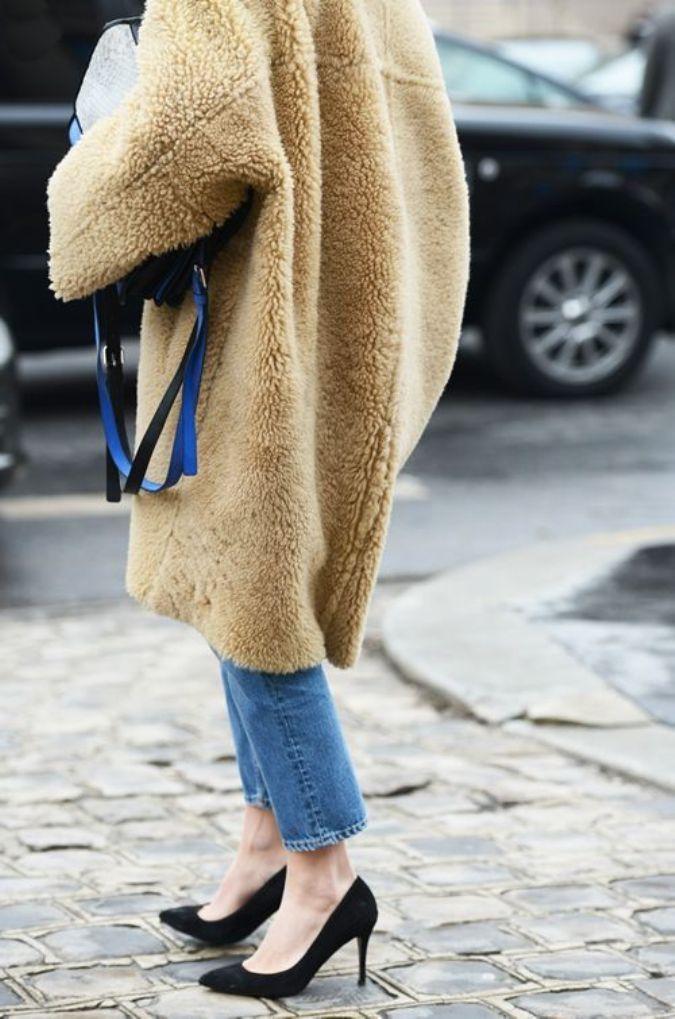 shearling coat !