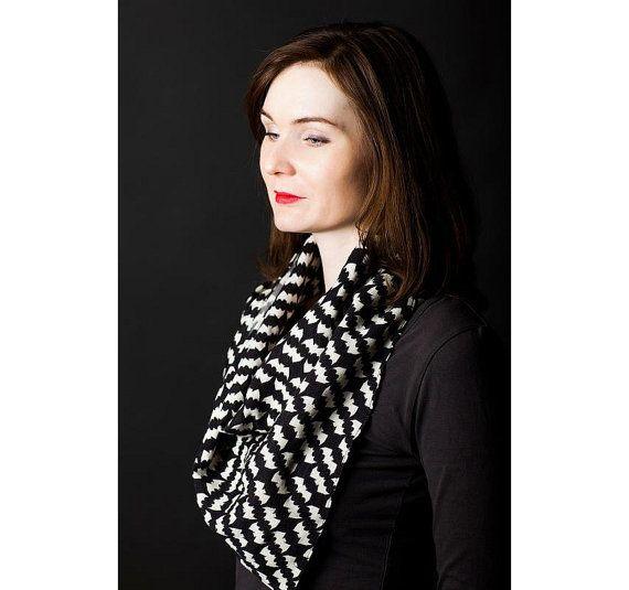 Bats on black square wool scarf  Fashion accessories Bat