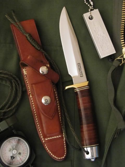 Randall Knives - Model 5 .... My father had one of these made for my high school graduation in 1988.... It is it true treasure!