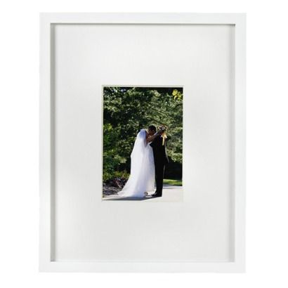 Room Essentials Wide Mat Frame White Holds 5x7 Picture Hung Horizontally To The Right Of Media Stand Insert Any You Like