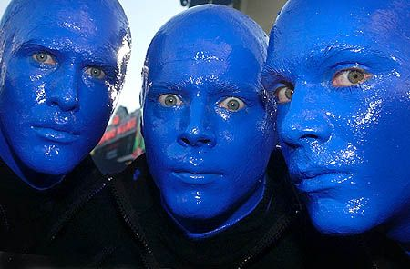 If the Blue Men come to your neighborhood make the time to go see them. One of the best performances I've seen.