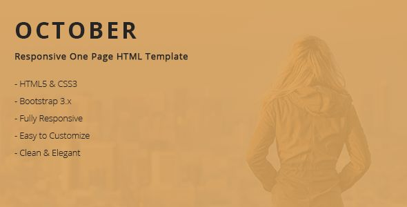 October - Responsive One Page HTML Template