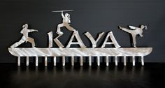 Karate  Medal Display #jujitsu #karate #martial-arts-belt-display #medal-display #medal-hangers-nunchuck-hangers #medal-holder #personalized #taekwondo #tang-soo-do #weapons-display