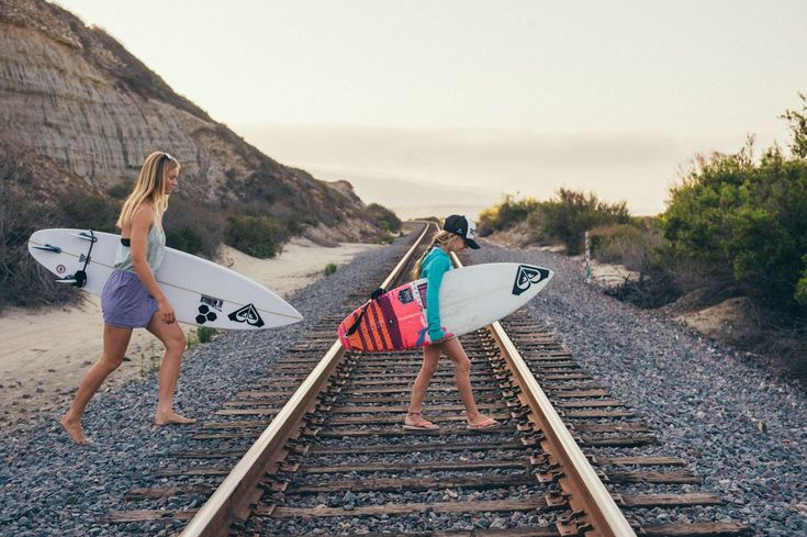 Surf checks at Trestles with Bianca and Sierra
