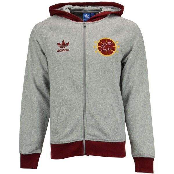 adidas Men's Cleveland Cavaliers Originals Full-Zip Hoodie ($70) ❤ liked on Polyvore featuring men's fashion, men's clothing and men's hoodies