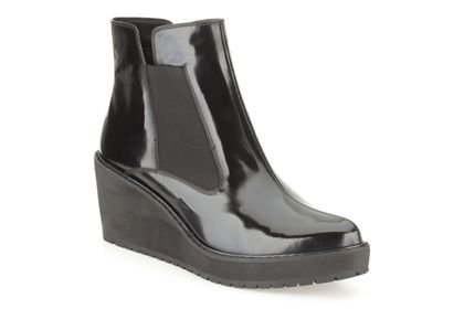 Womens Casual Boots - Marcelle Game in Black Interest Leather from Clarks shoes