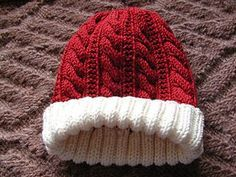 This hat features a 6-stitch cable with a 6 row repeat. It looks great in a variety of yarns and makes a quick gift-knitting or I-need-a-hat-now project.