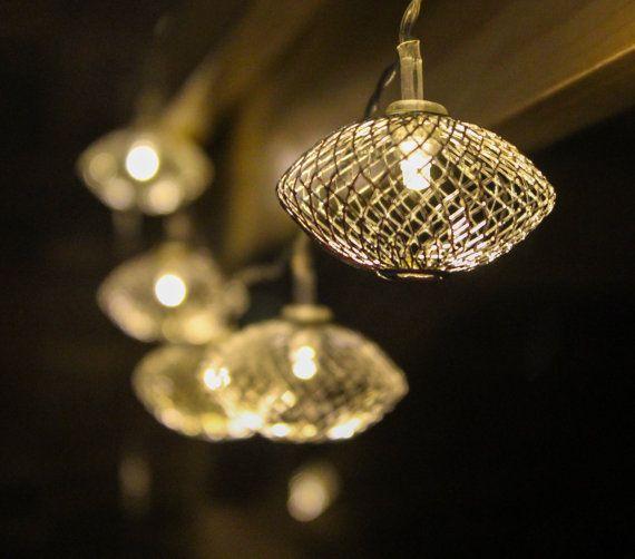 Silver White Lantern String lights & lamps by StudioKaeth on Etsy