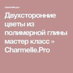 Двухсторонние цветы из полимерной глины мастер класс » Charmelle.Pro