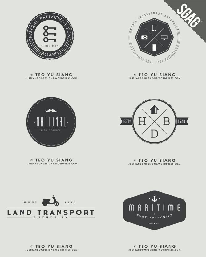 hipster logos singapore life pinterest logos