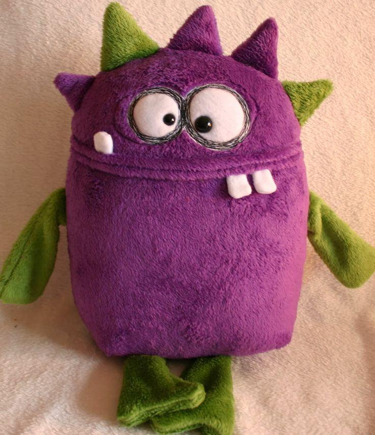 69 best Monster stuffies images on Pinterest | Fabric dolls, Felt ...